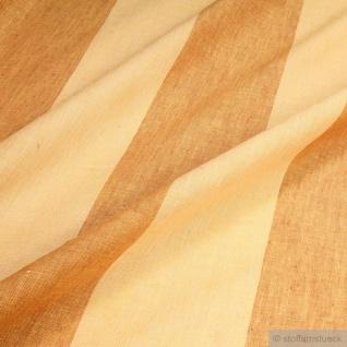 Stoff Leinen Leinwand Blockstreifen gelb ockergold leicht Reinleinen transparent