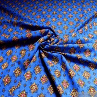 Stoff Baumwolle Provence kobaltblau Ornament 160 Baumwollstoff Valdrome Indienne