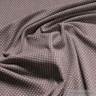Stoff Baumwolle Elastan Single Jersey Punkte klein taupe rosa GOTS cloudburst