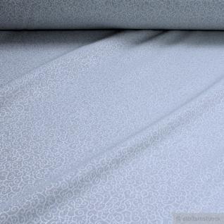 Stoff Baumwolle Polyester Jacquard Ranke hellgrau ganz leicht glänzend Karakusa Japan