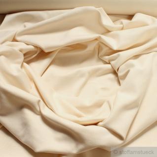 0, 5 Meter Baumwolle Lycra Bündchen creme kbA GOTS 82 cm breit C.Pauli - Vorschau 1