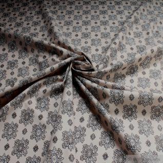 Stoff Baumwolle Provence sand Ornament 160 Baumwollstoff Valdrome Indienne