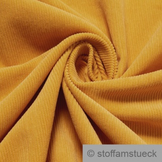 Stoff Baumwolle Cord safran Baumwollstoff Babycord Feincord