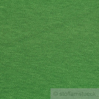0, 5 Meter Stoff Baumwolle Interlock Jersey grün T-Shirt weich dehnbar grasgrün - Vorschau 3
