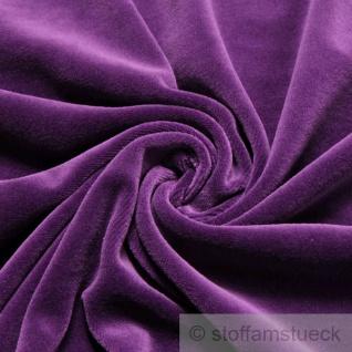 Stoff Baumwolle Polyester Nicki lila Nicky weich