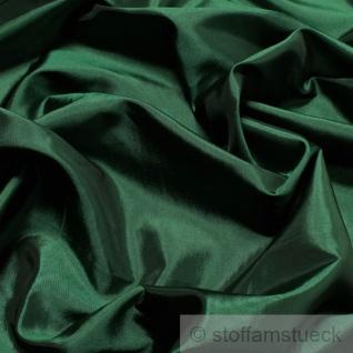 10 Meter Stoff Polyester Kleidertaft dunkelgrün Taft dezenter Glanz tannengrün