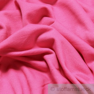 0, 5 Meter Stoff Baumwolle Single Jersey pink angeraut Sweatshirt weich fuchsia