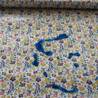 Stoff Baumwolle Polyurethan beige Mille Fleurs kbA beschichtet wasserabweisend