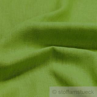 Stoff Leinen Leinwand hellgrün Reinleinen weich