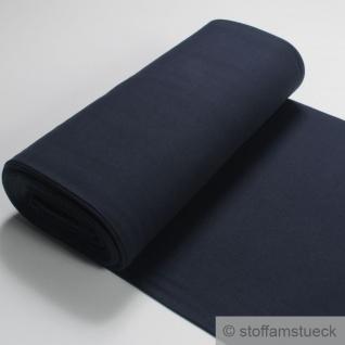 0, 5 Meter Baumwolle Elastan Bündchen dunkelblau 45 cm breit