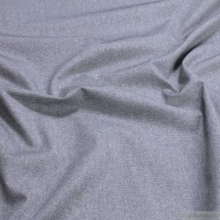 Stoff Baumwolle Polyester Rips grau Glitzer breit Öko-Tex Standard 100 280 cm
