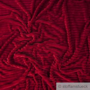 Stoff Polyester Minky Fleece bordeaux Streifen Soft Fleece Mole Fleece