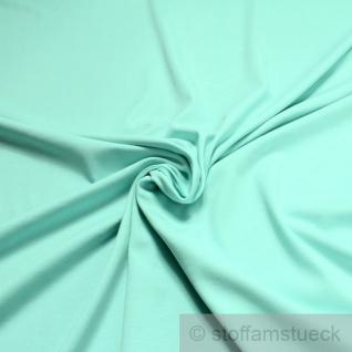 Stoff Baumwolle Interlock Jersey türkis T-Shirt Tricot weich dehnbar