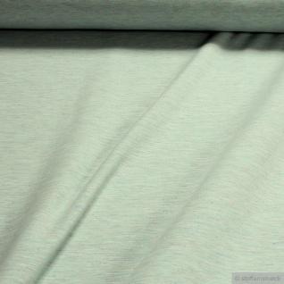 0, 5 Meter Stoff Baumwolle Polyester Single Jersey pastelltürkis angeraut Winter-Sweat