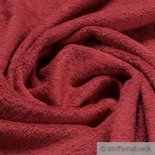 Stoff Baumwolle Frottee kirschrot Frotté zweiseitig Baumwollstoff weich rot