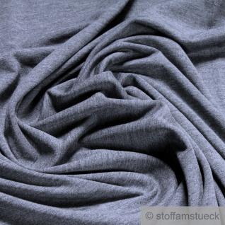 Stoff Bambus Elastan Single Jersey dunkelgrau meliert atmungsaktiv knitterarm