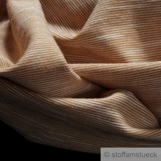 0, 5 Meter Baumwolle Single Jersey beige meliert Streifen leicht beidseitig gleich - Vorschau 2