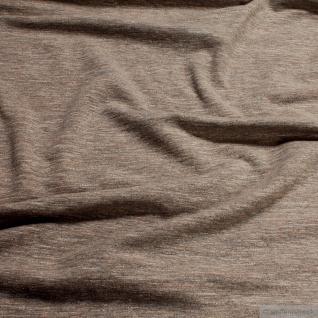 0, 5 Meter Baumwolle Polyester Elastan Single Jersey beige angeraut Winter-Sweat - Vorschau 2