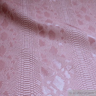 Stoff PVC Kunstleder Krokodil rosa leicht glänzend