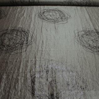 Stoff Polyester Crash Kleidertaft platin Kringel schwarz gecrasht Edelknitter