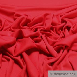 Stoff Polyester Elastan Interlock Jersey rot leicht bi-elastisch fließend