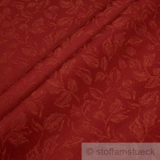 Stoff Polyester Jacquard Blätter rot 25.000 Martindale wasserdicht lichtecht
