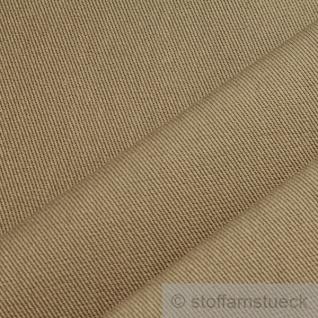 Stoff Baumwolle Köper sand beige fest robust stabil Jeans Baumwollstoff