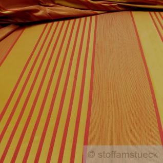 Stoff Trevira® CS Taft Streifen gelb rot 300 cm breit nicht brennbar B1