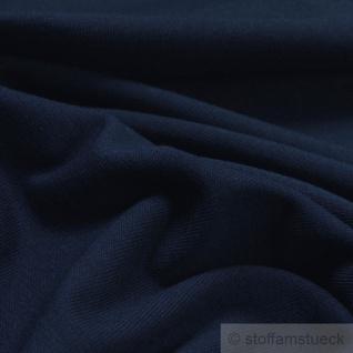 0, 5 Meter Stoff Baumwolle Elastan Single Jersey dunkelblau T-Shirt weich dehnbar - Vorschau 2