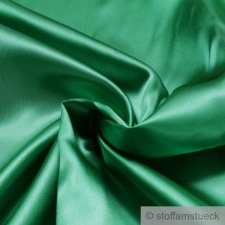 Stoff Polyester Satin grasgrün leicht blickdicht glänzend glatt grün