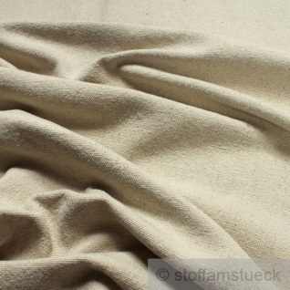 Stoff Baumwolle Leinwand natur grob ungefärbt Baumwollstoff