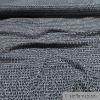 Stoff Baumwolle Elastan Single Jersey schwarz Raute grau Glitzer Glitter