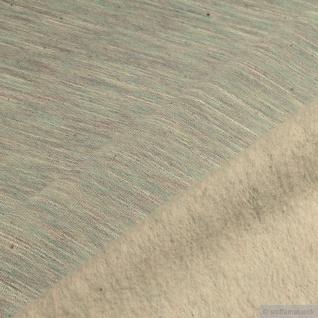 0, 5 Meter Baumwolle Polyester Single Jersey pastelltürkis angeraut Winter-Sweat - Vorschau 4