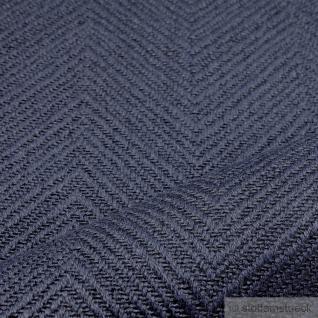 Stoff Leinen Baumwolle Polyester Fischgrat marine Polster 35.000 Martindale