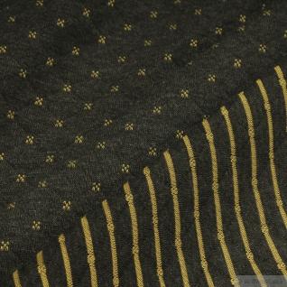 Stoff Baumwolle Polyester Doubleface Jersey anthrazit gelb Stepper Streifen