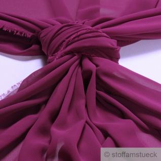 Stoff Polyester Chiffon fuchsia transparent leicht weich fallend violett