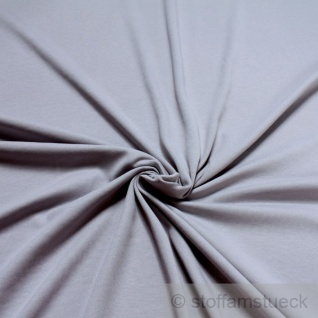 0, 5 Meter Stoff Baumwolle Interlock Jersey hellgrau T-Shirt Tricot weich dehnbar