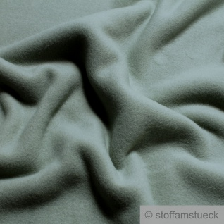 Stoff Bio-Baumwolle Fleece mint Baumwolle organic cotton Baumwollfleece