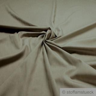 Stoff Polyester Viskose Feinköper beige weich schlammfarben