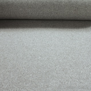 Stoff Polyester Alpenfleece grau hellgrau meliert kuschelig warm weich