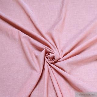 Stoff Baumwolle Leinwand pastellrosa meliert Rose Quartz leicht natürliche Optik
