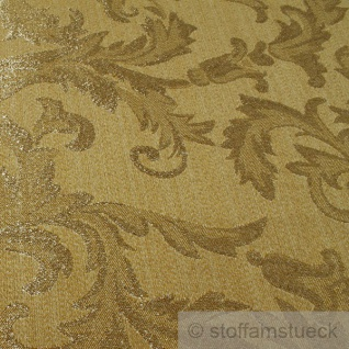 Stoff Polyester Jacquard Ornament gold gold Lurex Goldbrokat Barock Rokoko 280 cm überbreit - Vorschau 2
