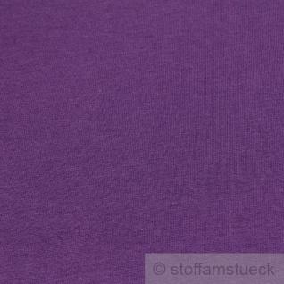 0, 5 Meter Stoff Baumwolle Single Jersey lila angeraut Sweatshirt weich dehnbar - Vorschau 3