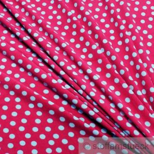 Stoff Baumwolle Polyester Nicki Punkte fuchsia hellblau pink Nicky