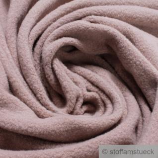 Stoff Baumwolle Fleece rosa Baumwollfleece reine Baumwolle pastell weich flauschig