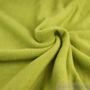 Stoff Polyester Fleece limettengrün warm weich lime