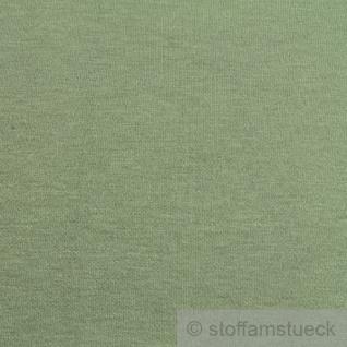 0, 5 Meter Stoff Baumwolle Interlock Jersey schilfgrün T-Shirt weich dehnbar - Vorschau 3