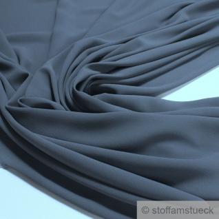 Stoff Polyester Crêpe de Chine leicht mausgrau knitterfrei grau
