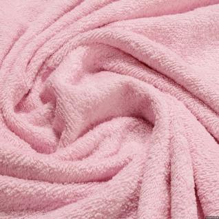 Stoff Baumwolle Frottee rosa Frotté zweiseitig Baumwollstoff weich