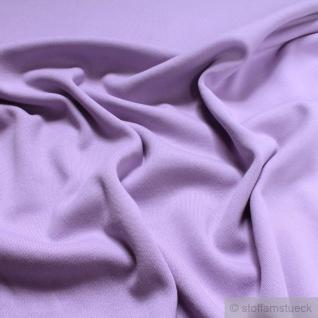 0, 5 Meter Stoff Baumwolle Interlock Jersey flieder T-Shirt Tricot weich dehnbar - Vorschau 2